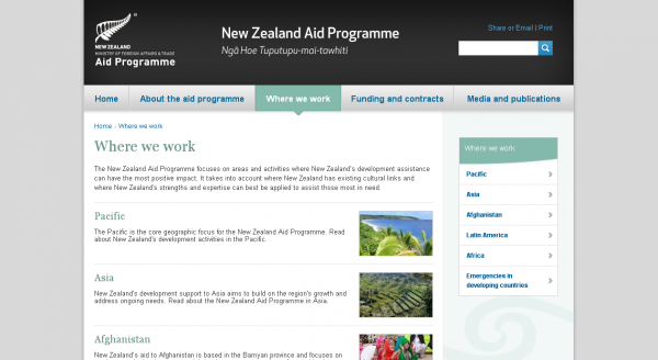 The New Zealand Aid Programme, List of articles with an image