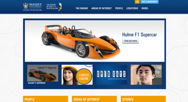 Massey University Homepage