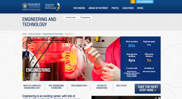 Massey University Engineering and Technology