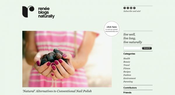 Renee Naturally, Blog