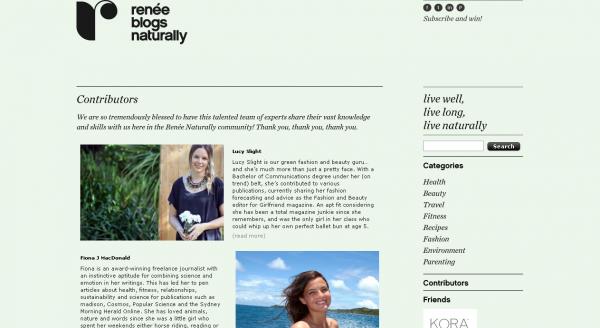 Renee Naturally, Contributors list